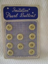 Card  Vintage Imitation Pearl  Buttons
