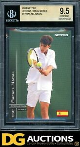2003 Netpro International Series Raphael Nadal Rookie RC BGS 9.5