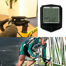 Wireless Heart Rate LCD Bike Computer Odometer Speedometer Cycle Bicycle Set EA