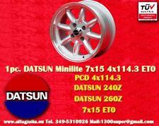 1 Cerchio Nissan Datsun 240 260 280 7x15 4x114.3 ET0 Wheel Felge llanta jante