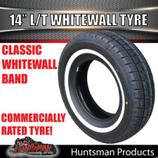 "14"" WHITEWALL 185R14L/T COMFORSER TYRE. 25MM LINE 185 14 COMMERCIAL WHITE WALL"