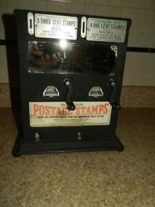 Schermack Postage Stamp Vending Machine Coin Operated Glass Sided 5 10 Cent