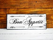 Shabby Chic Deko Schild Vintage Nostalgie Wandschild Bon Appetit Türschild