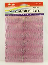 "ANNIE 1-1/8"" WIRE MESH HAIR ROLLERS - 12 PCS. (1024)"