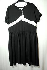 BLACK WHITE LADIES PARTY COCKTAIL DRESS SIZE L MOSS COPENHAGEN