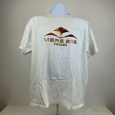 Mars 2112 T Shirt XL Men's White Short Sleeve Graphic Tee Made in USA