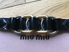Unworn Leather Miu Miu Buckle Bracelet RRP £149.