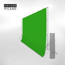 HAUSER & PICARD Fotostudio Hintergrund Stoff Green Screen Chromakey Grün 3 x 3 m