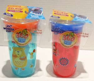 Nuby Active Sipeez 360 Degree Wonder Cup Sippy Cup 2pk 12m+