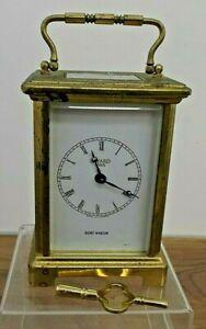 Vintage Bayard French Brass Carriage Clock Duverdrey & Bloquel 7 Jewels