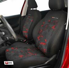 2 X CAR SEAT COVERS pair for front seats fit Peugeot 206 207 208 charcoal/red