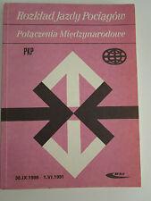 POLAND Employee International Train Timetable 1990-91 Rozkład jazdy pociągów PKP