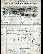 """REMSCHEID (ALLEMAGNE) USINE de MACHINES-OUTILS """"ALEXANDERWERK"""" FONDERIE en 1905"""