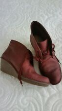 Clarks Artisan nubuck leather ladies ankle boots size 6. Excellent condition.