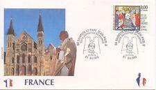 ENVELOPPE VISITE DU PAPE JEAN PAUL II / FRANCE / REIMS / 1996