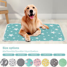 Waterproof Pet Bed Pad Breathable Dog Puppy Pee Washable Reusable Pads Mat V/C