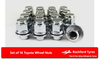 Original Style Wheel Nuts (16) 12x1.5 Nuts For Toyota Yaris [Mk2] 05-11