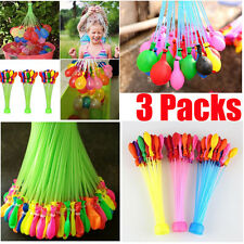 111x Magic Water Balloons Self Tying Bunch O Balloon Bombs Party Toys 3 Bunches