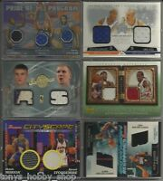 Dual/Triple Game/Event Worn Used Jersey 11 Card Lot Basketball