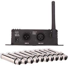 LCD 2.4G Wireless DMX 512 Controller Sender Empfänger  mit 10 Empfänger C9D8