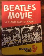 THE BEATLES BUBBLE GUM PACK BAZOOKA A HARD DAYS NIGHT