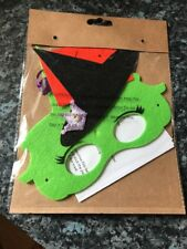 Felt Witch Eye Mask Halloween CHILDRENS KID Fancy Dress Accessories