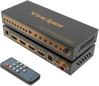 HDMI Switch, 3 Ports 4K@60Hz HDMI Audio Extractor,HDMI 2.0 Switcher with Optical