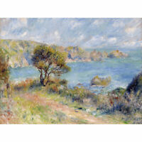 Pierre Auguste Renoir View At Guernsey 1883 Painting Wall Art Canvas Print 18X24