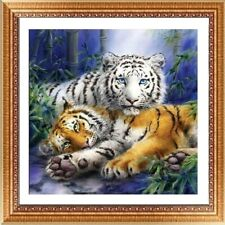 UK Two Tigers Drill DIY 5d Diamond Painting Embroidery Cross Stitch Kit