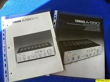 Yamaha A-550 Original brochure & Yamaha Reference Guide New