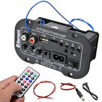 220V Car HiFi Bass Power Stereo Digital Amplifier AMP USB TF + Remote Control
