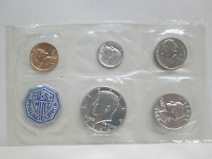 1964 US MINT UNCIRCULATED COIN SET - NO ENVELOPE P MINT ONLY