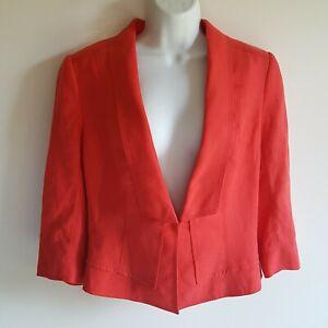 White House Black Market Size 8 Framed Lapel Jacket Blazer NWT Peach