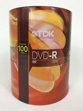TDK DVD-R Recordable Disks New Sealed 100 Pack