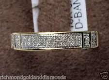 Ladies DIAMONDS WEDDING BAND 10k White Gold 3.5mm Anniversary Ring Pave Set NEW