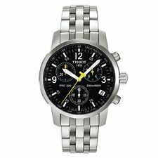 TISSOT PRC 200 T17.1.586.52 CHRONOGRAPH MENS WATCH STAINLESS STEEL QUARTZ