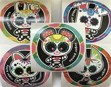 15 Day Of The Dead Sugar Skull Animals Día de Muertos Stickers Party Favors