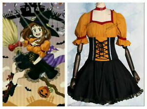 new!My Hero Academia OCHACO URARAKA Dress Halloween Cosplay Costume