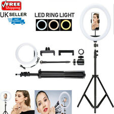"""12"""" LED Ring Light Dimmable + Tripod Stand Kit Phone Selfie Vlogging Live"""