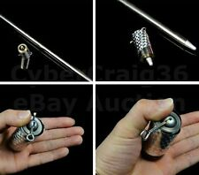 METAL APPEARING SILVER CANE STAGE TRICK MAGIC PROP NEW OR USE WITH FANCY DRESS