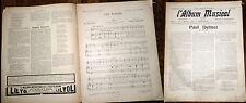 L'Album Musical n°22 1905 Paul Delmet partition piano chant