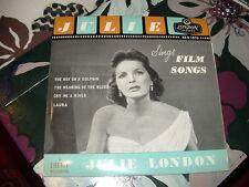 """JULIE LONDON """" JULIE CANTA CANZONI DA FILM """" E.P.  ITALY'57"""