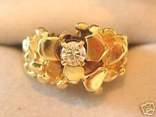 **Gorgeous 14kt Gold*Mens*Diamond*Nugget* Ring!!L@@K!**