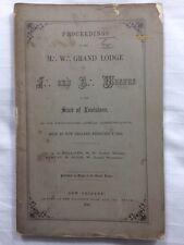 RARE 1864 New Orleans, Louisiana, Freemason, Masonic Pamphlet, Civil War, 1st ed