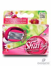 Dorco Shai Dual Blade- Six Blade Razor Shaver System 4 Refill Cartridges-Women