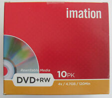 10 PACK IMATION DVD+RW 4X 4.7GB 120MIN REWRITABLE MEDIA - NEW & SEALED