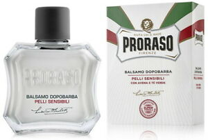 Proraso White Aftershave Balm Alcohol Free Anti-irritation for Sensitive Skin