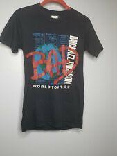 Vintage Men S Michael Jackson T Shirt 1988 World Tour Concert Promo Bad Thriller