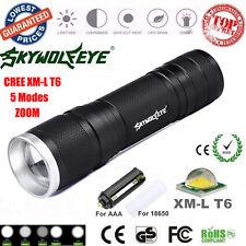8000LM XML-T6 Zoom LED Flashlight Focus Torch Lamp 26650/18650/AAA Light Outdoor