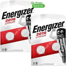 4 x Energizer CR2016 3V Lithium Coin Cell Button Battery EXPIRY 2029 *New Packs*